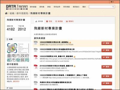 http://data.tainan.gov.tw/dataset/project-plan
