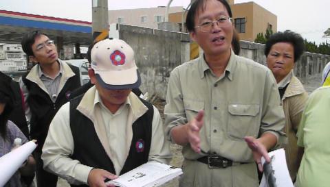 99-0408灣裡重劃區污染記者會
